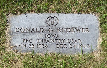 KLOEWER, DONALD G. (MILITARY) - Shelby County, Iowa | DONALD G. (MILITARY) KLOEWER