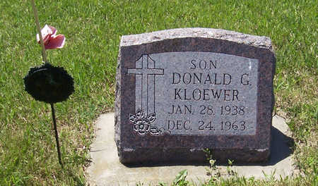 KLOEWER, DONALD G. - Shelby County, Iowa | DONALD G. KLOEWER