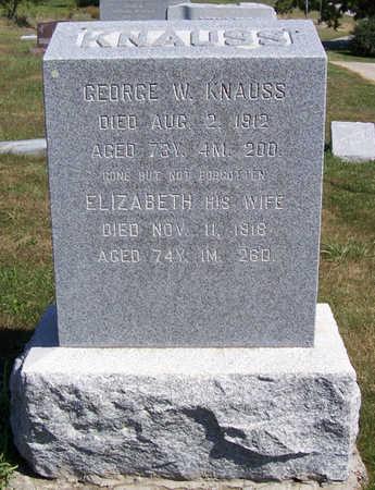 KNAUSS, ELIZABETH - Shelby County, Iowa | ELIZABETH KNAUSS