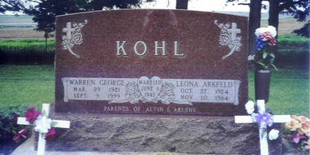 ARKFELD KOHL, LEONA ROSE - Shelby County, Iowa | LEONA ROSE ARKFELD KOHL