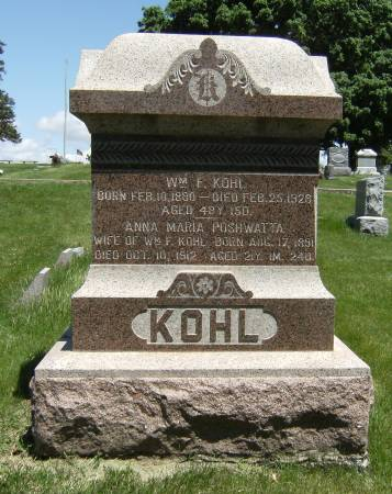 KOHL, WILLIAM F. - Shelby County, Iowa | WILLIAM F. KOHL