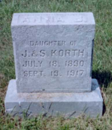 KORTH, ANNA J. - Shelby County, Iowa | ANNA J. KORTH