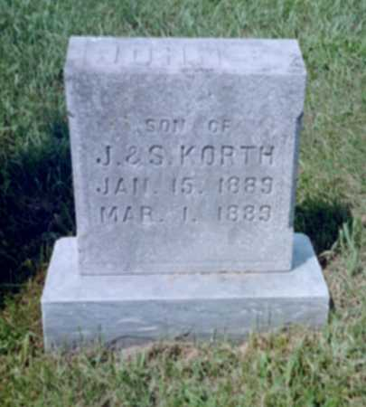 KORTH, JOHN E. - Shelby County, Iowa | JOHN E. KORTH