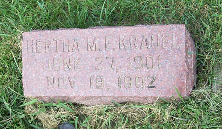 KRAUEL, HERTHA M. F. - Shelby County, Iowa | HERTHA M. F. KRAUEL