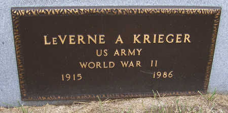 KRIEGER, LEVERNE A. (MILITARY) - Shelby County, Iowa | LEVERNE A. (MILITARY) KRIEGER