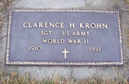 KROHN, CLARENCE H. (MILITARY) - Shelby County, Iowa | CLARENCE H. (MILITARY) KROHN