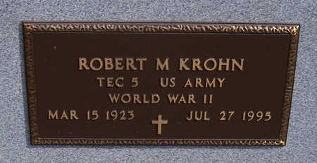 KROHN, ROBERT M. (MILITARY) - Shelby County, Iowa | ROBERT M. (MILITARY) KROHN