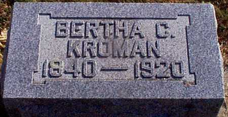 KROMAN, BERTHA C - Shelby County, Iowa | BERTHA C KROMAN