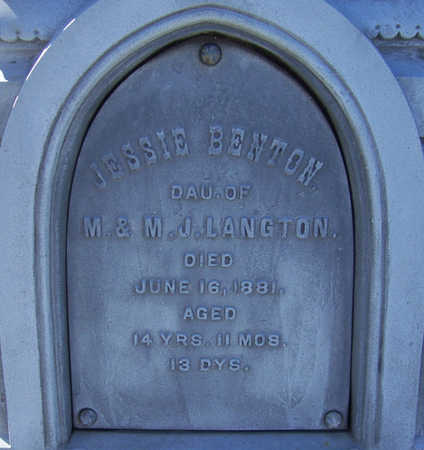 LANGTON, JESSIE BENTON (CLOSE UP-2) - Shelby County, Iowa | JESSIE BENTON (CLOSE UP-2) LANGTON