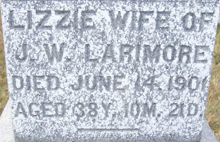 LARIMORE, LIZZIE (CLOSE-UP) - Shelby County, Iowa   LIZZIE (CLOSE-UP) LARIMORE