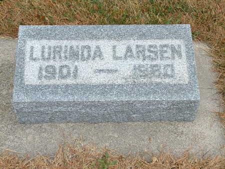 LARSEN, LURINDA - Shelby County, Iowa | LURINDA LARSEN