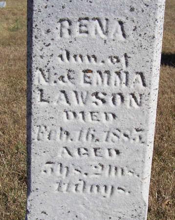 LAWSON, RENA (CLOSE-UP) - Shelby County, Iowa   RENA (CLOSE-UP) LAWSON