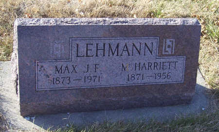 LEHMANN, M. HARRIETT - Shelby County, Iowa | M. HARRIETT LEHMANN