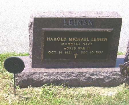 LEINEN, HAROLD MICHAEL (MILITARY) - Shelby County, Iowa | HAROLD MICHAEL (MILITARY) LEINEN