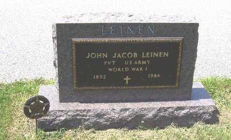LEINEN, JOHN JACOB (MILITARY) - Shelby County, Iowa | JOHN JACOB (MILITARY) LEINEN
