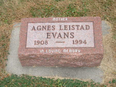 EVANS LEISTAD, AGNES - Shelby County, Iowa | AGNES EVANS LEISTAD