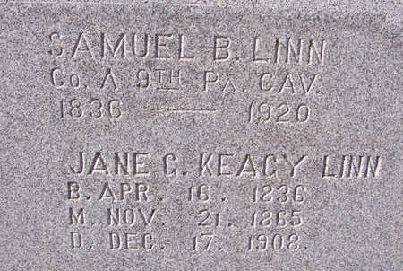 KEAGY LINN, JANE C. (CLOSE-UP) - Shelby County, Iowa | JANE C. (CLOSE-UP) KEAGY LINN