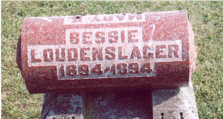LOUDENSLAGER, BESSIE - Shelby County, Iowa | BESSIE LOUDENSLAGER