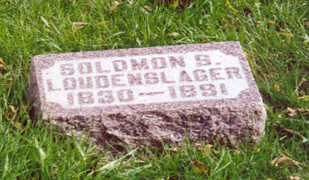 LOUDENSLAGER, SOLOMON S. - Shelby County, Iowa | SOLOMON S. LOUDENSLAGER