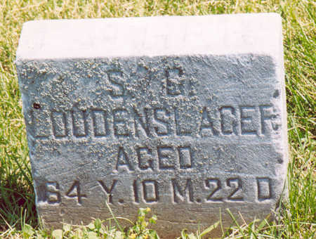 LOUDENSLAGER, S. G. - Shelby County, Iowa | S. G. LOUDENSLAGER