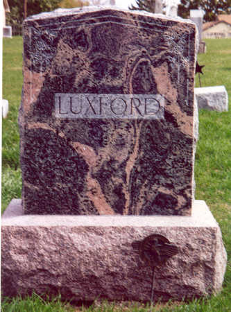 LUXFORD (FAMILY STONE), GEORGE & MARY - Shelby County, Iowa | GEORGE & MARY LUXFORD (FAMILY STONE)