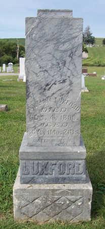 LUXFORD, WILLIAM - Shelby County, Iowa | WILLIAM LUXFORD