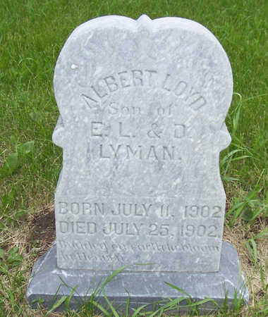 LYMAN, ALBERT LOYD - Shelby County, Iowa | ALBERT LOYD LYMAN