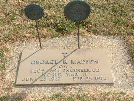 MADSEN, GEORGE R - Shelby County, Iowa | GEORGE R MADSEN