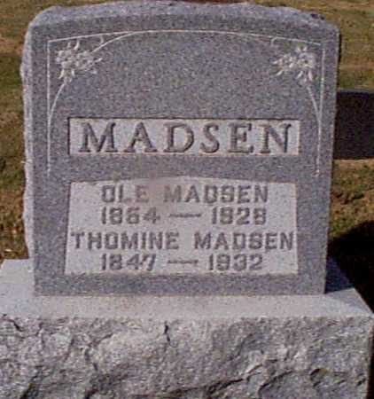 MADSEN, THOMINE - Shelby County, Iowa | THOMINE MADSEN