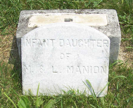 MANION, INFANT DAUGHTER - Shelby County, Iowa | INFANT DAUGHTER MANION