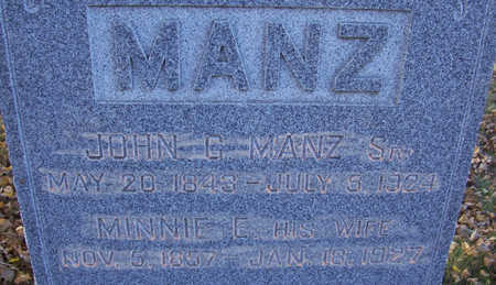 MANZ, JOHN G., SR. (CLOSE-UP) - Shelby County, Iowa | JOHN G., SR. (CLOSE-UP) MANZ