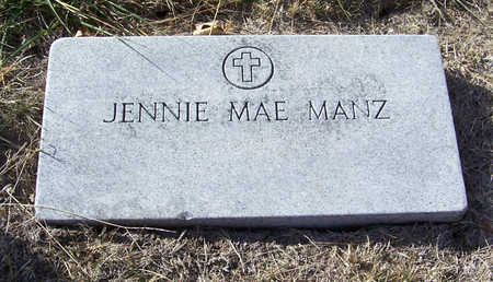 MANZ, JENNIE MAE - Shelby County, Iowa | JENNIE MAE MANZ