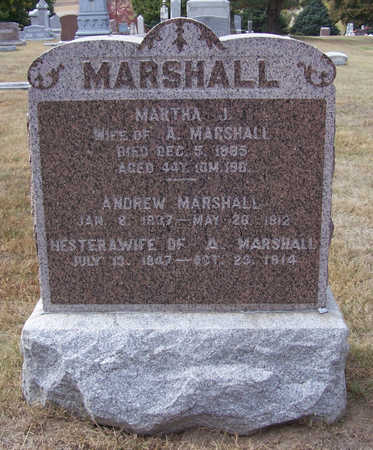 MARSHALL, MARTHA J. - Shelby County, Iowa | MARTHA J. MARSHALL