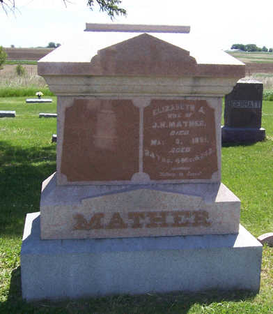 MATHER, ELIZABETH A. - Shelby County, Iowa | ELIZABETH A. MATHER