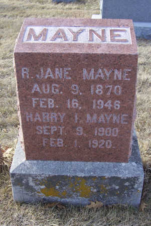 MAYNE, HARRY I. - Shelby County, Iowa | HARRY I. MAYNE