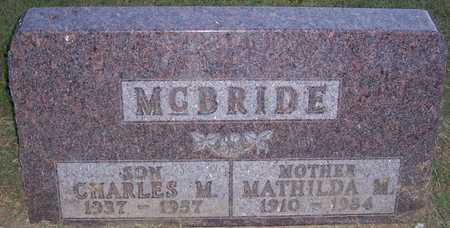 MCBRIDE, CHARLES M. - Shelby County, Iowa | CHARLES M. MCBRIDE