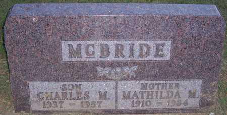 SCHLEIER MCBRIDE, MATHILDA M. - Shelby County, Iowa | MATHILDA M. SCHLEIER MCBRIDE