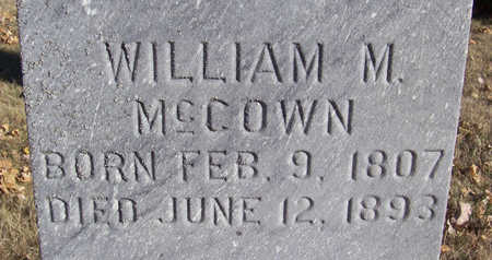 MCCOWN, WILLIAM M. (CLOSE-UP) - Shelby County, Iowa | WILLIAM M. (CLOSE-UP) MCCOWN