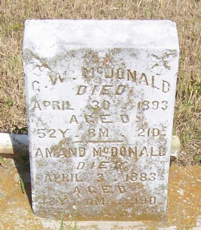 MCDONALD, G. W. - Shelby County, Iowa | G. W. MCDONALD