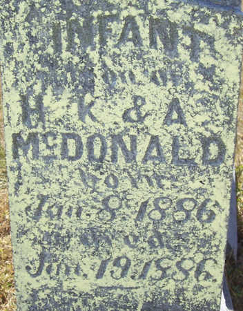 MCDONALD, INFANT - Shelby County, Iowa | INFANT MCDONALD