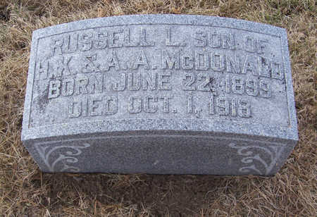 MCDONALD, RUSSELL L. - Shelby County, Iowa   RUSSELL L. MCDONALD