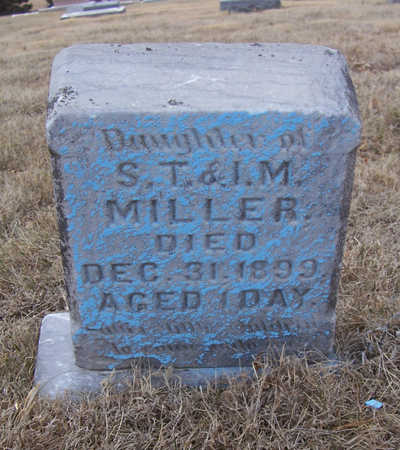 MILLER, INFANT DAUGHTER - Shelby County, Iowa | INFANT DAUGHTER MILLER