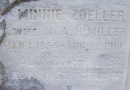 ZOELLER MILLER, MINNIE (CLOSE-UP) - Shelby County, Iowa | MINNIE (CLOSE-UP) ZOELLER MILLER