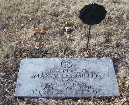 MILLER, MAX MILES (MILITARY) - Shelby County, Iowa | MAX MILES (MILITARY) MILLER