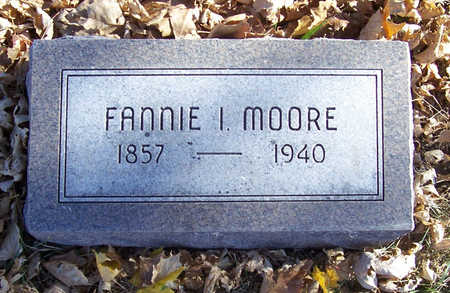 MOORE, FANNIE I. - Shelby County, Iowa | FANNIE I. MOORE