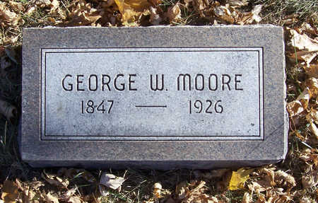 MOORE, GEORGE W. - Shelby County, Iowa | GEORGE W. MOORE