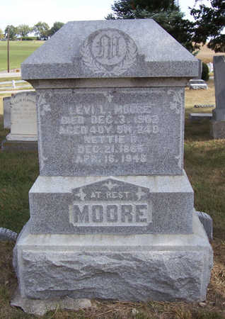 MOORE, NETTIE D. - Shelby County, Iowa | NETTIE D. MOORE