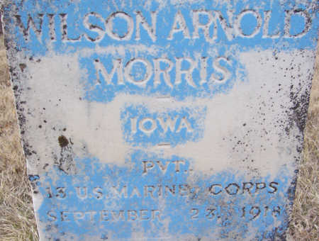 MORRIS, WILSON ARNOLD (MILITARY)(CLOSE-UP) - Shelby County, Iowa | WILSON ARNOLD (MILITARY)(CLOSE-UP) MORRIS