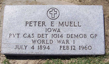 MUELL, PETER E. (MILITARY) - Shelby County, Iowa | PETER E. (MILITARY) MUELL