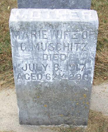 MUSCHITZ, MARIE (MOTHER) - Shelby County, Iowa   MARIE (MOTHER) MUSCHITZ